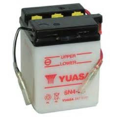 Suzuki Battery Genuine Yuasa 6n4 2a 6v Moped Scooter Motorbike Battery