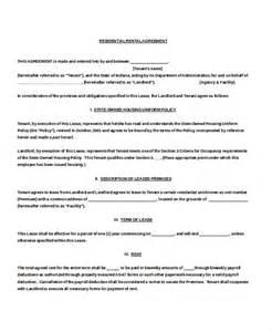 Blank Rental Agreement Template 13 residential rental agreement templates free sample