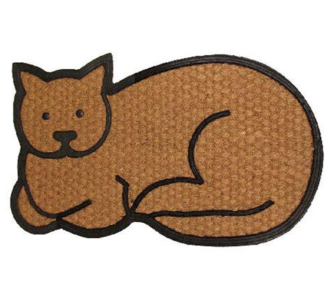 geo crafts flat weave tuffcor cat door mat — qvc.com