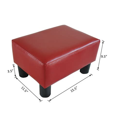 Modern Faux Leather Ottoman Footrest Stool Foot Rest Small Footrest Ottoman
