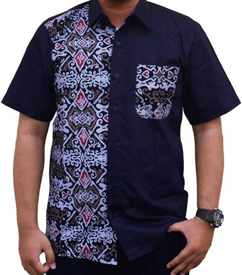 5 Motif Kemeja Pria Kombinasi Batik Cap Hitam Putih Elegan jual pb 7 kemeja kombinasi batik pria terbaru batik