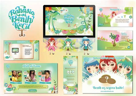Petualangan Dannie Si Benih Kecil perancangan komunikasi visual media interaktif anak