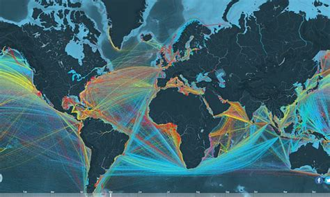 interactive map  reveals  route   merchant ship   ocean   daily mail