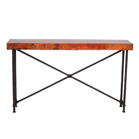Contemporary Wrought Iron Burlington Console Table 60in Iron Sofa Table