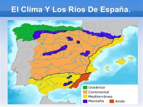 los rios de espana el clima y los r 237 os de espa 241 a m 170 gallardo