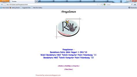 membuat web biodata dengan html no pain no gain belajar web design quot membuat biodata