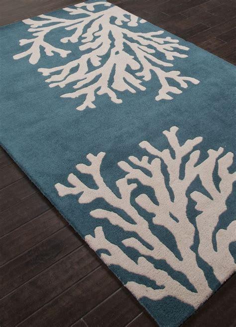 coastal seaside coral rug atlantic blue beach house