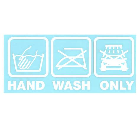 Auto Sticker Hand Wash Only by Aufkleber Quot Hand Wash Only Quot Auto Sticker In Wei 223
