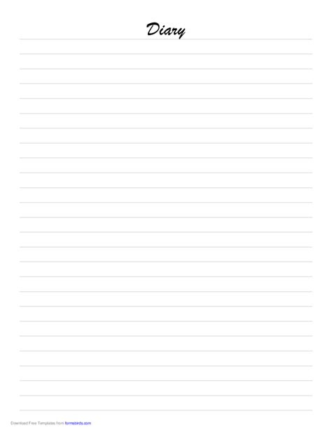 diary paper template free download