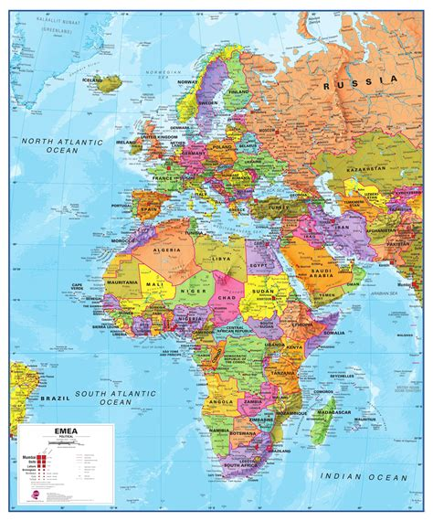 map of europe and middle east europe middle east africa large printable map inside and