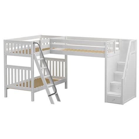 corner bunk bed troika corner loft bunk bed rosenberryrooms com