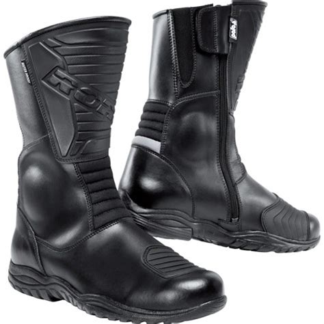 road touring leather boots  black