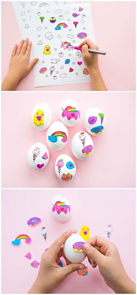printable egg stickers cute easter egg sticker art with free printable coloring