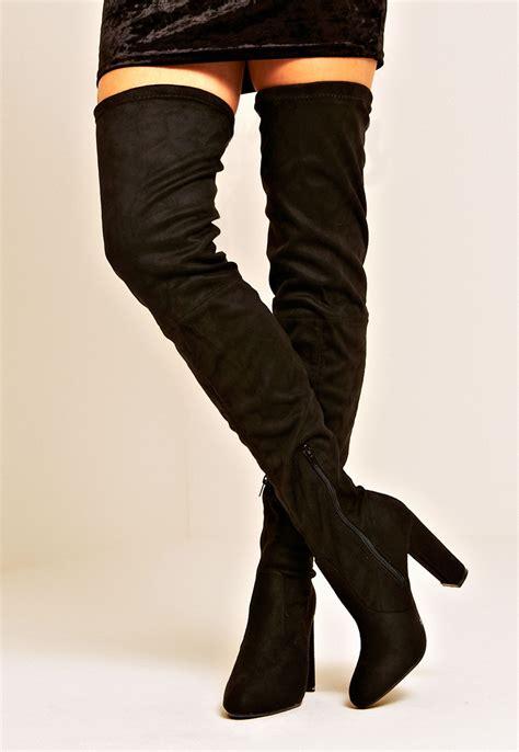 thigh high boot erin black thigh high boot