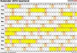 Kalender 2018 Saarland Kalender 2018 Saarland Ferien Feiertage Excel Vorlagen