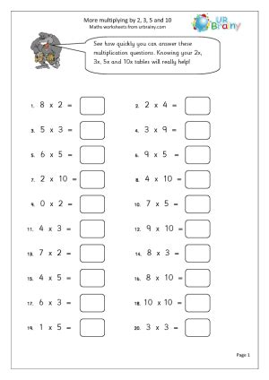 Timetable Worksheets Year 3