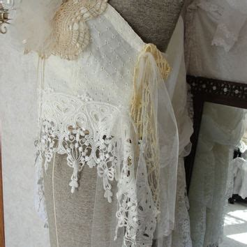 Flowing Shabby Chic boho bohemian white cotton gauze from summersbreeze on etsy