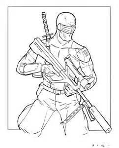 Snake Eyes Storm Shadow And Coloring Pages Coloring Pages