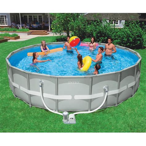 backyard pools walmart intex 18 x 48 quot ultra frame swimming pool walmart com