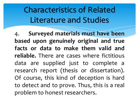 The Review Of Related Literature And Studies by Related Literature And Related Studies