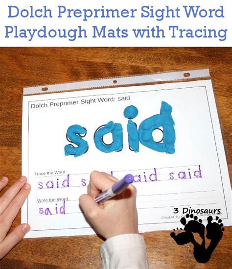 printable playdough sight word mats free dolch preprimer sight words playdough mats with