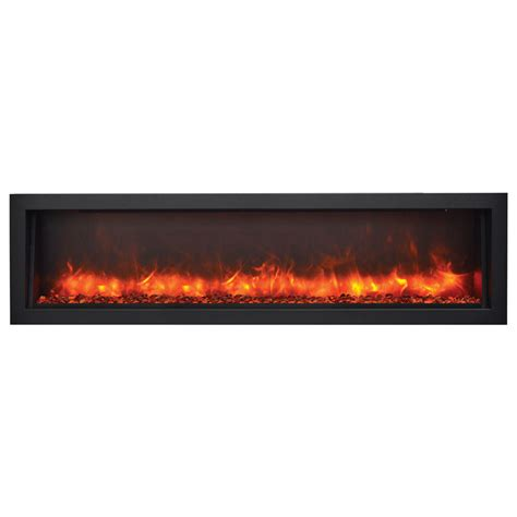 indoor outdoor electric fireplace amantii 60 bi 60 slim indoor or outdoor electric