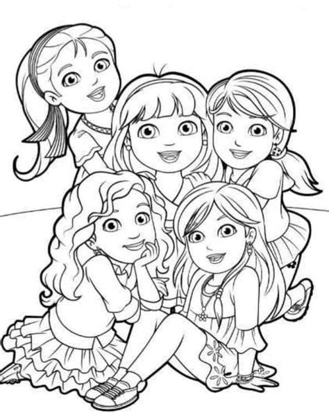 6 coloring pages of dora and friends on kids n fun co uk