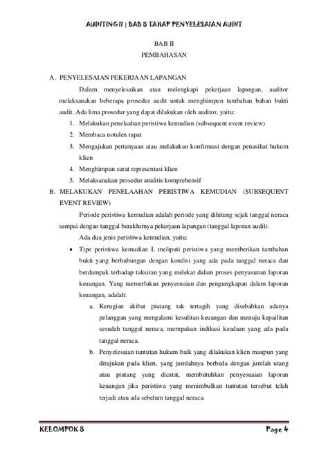 Jasa Audit Dan Assurance Edisi 8 Buku 2 makalah auditing ii kelompok 8 tahap penyelesaian audit jiantari c 3