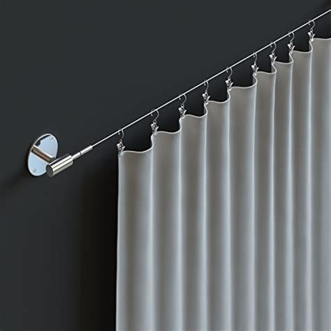 wire curtain rods fasthomegoods soho expandable chrome curtain wire rod