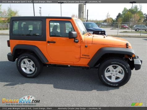 jeep wrangler orange and black 2012 jeep wrangler sport s 4x4 crush orange black photo