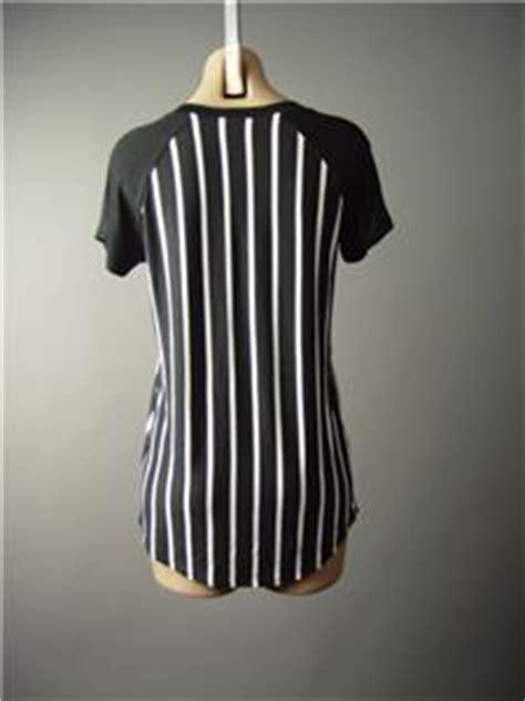 Tp Spandex Stripe Sleeve black white stripe chicago sporty baseball referee top