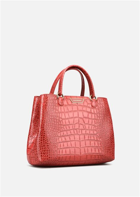 Bag Selempang Emporio Armani 3743 shopping bag in cow leather for emporio armani