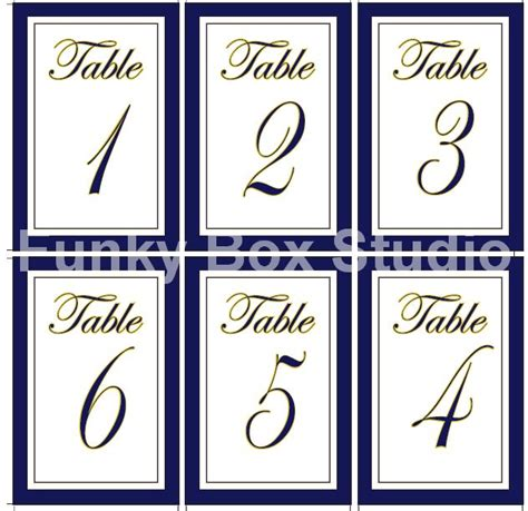 templates for table numbers free table number templates gallery template design ideas