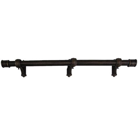 fixed length curtain rod the artifactory 8 ft fixed length 1 in dia metal