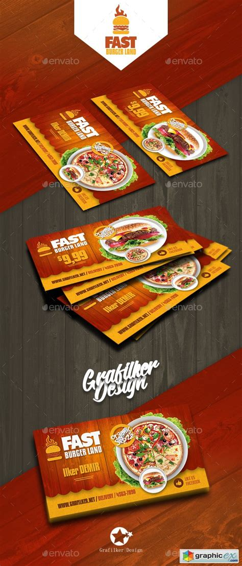 restaurant business card templates