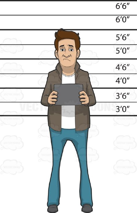 gallery height for pictures caucasian man standing in front of a height measurement