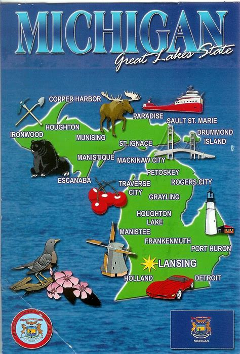 michigan usa map usa michigan remembering letters and postcards page 3