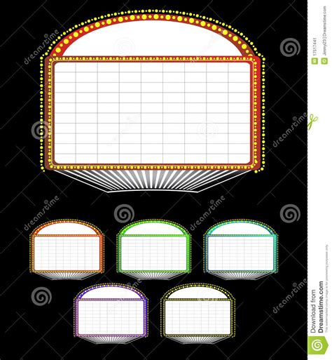 marquee sign theater marquee sign stock vector image of drama advertising 17517441