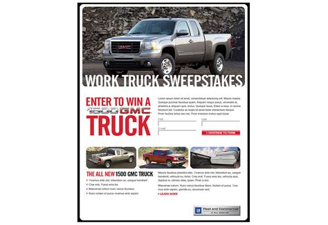 Gm Sweepstakes - gmc sweepstakes email visual foundry