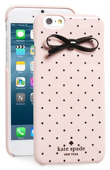 kate spade new york gold dot bow iphone 6 6s in pink lyst