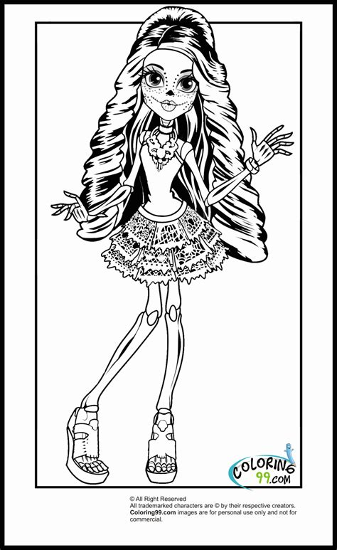 coloring pages of monster high characters images of monster high characters coloring pages
