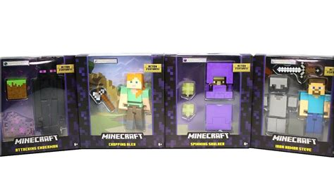 5 inch figures minecraft 5 inch figures enderman spinning shulker