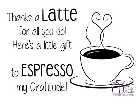 thanks a latte card template appreciation gift quot thanks a latte for all you do