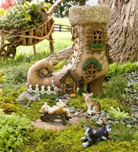 decorative fairy tree house with 3 fairy figurine outdoor wonderful backyard decorating ideas to make your neighbors