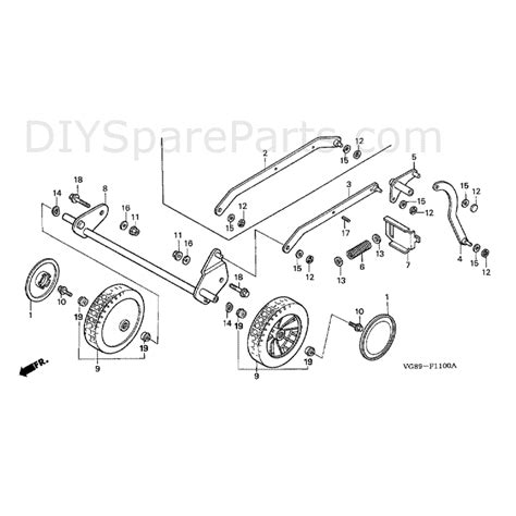 wheel parts diagram honda hrb425 sqe hrb425c sqe mzcf parts diagram wheel front