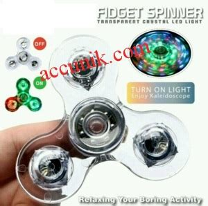 Spinner Led Bening by Jual Fidget Spinner Transparan Led Light Bening Mainan