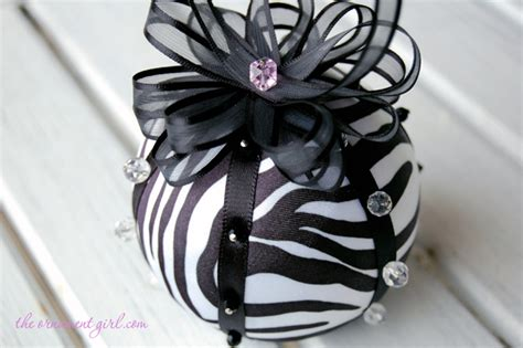 no sew zebra print christmas ornament pattern and tutorial