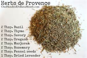 diy herbs de provence recipe one hundred dollars a month
