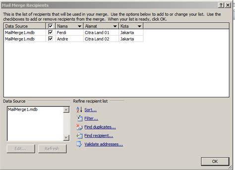 yang dibutuhkan untuk membuat mail merge cara mudah membuat mail merge tigado artikel gado gado
