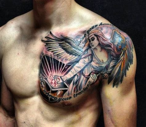 shoulder to chest tattoo designs 25 best chest tattoos for
